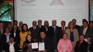 IAPA y CONALEP firmaron convenio para prevenir adicciones